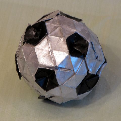 Origami Soccer Ball - YouTube | 480x480